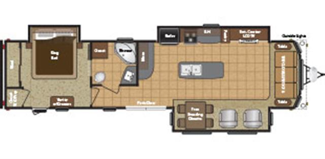 New 2015 Keystone RETREAT 39MKTS Travel Trailer For Sale